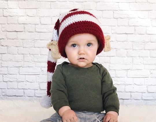 Crochet Elf Hat with Ears free pattern - Crochet Pattern for Christmas Beanie