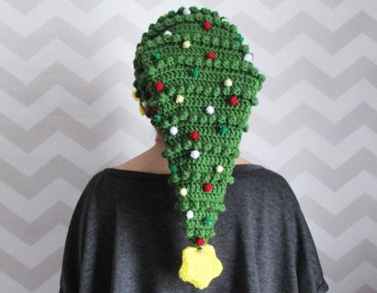 Crochet Novelty Christmas Hat easy pattern - Crochet Pattern for Christmas Beanie